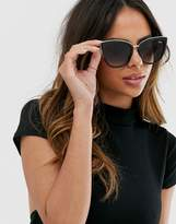 Quay Australia honey cat eye sunglasses in black