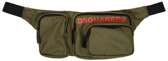 DSQUARED2 Green Nylon Military Bum Bag