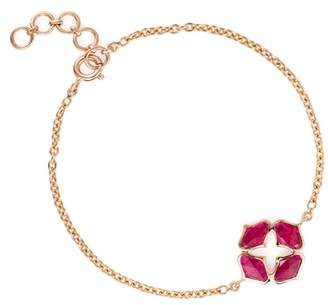 Gyan Jewels Lattice Bracelet In Ruby