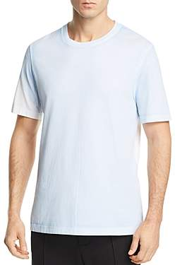 Helmut Lang Short-Sleeve Color-Block Logo Graphic Tee