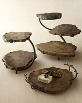 Janice Minor Petrified Wood Serving Pieces