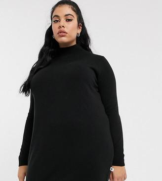 Collusion Plus roll neck sweater dress