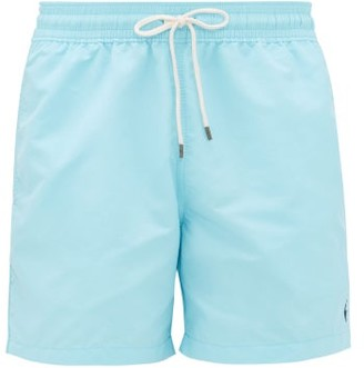 Polo Ralph Lauren Logo-embroidered Swim Shorts - Light Blue