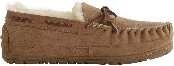 L.L. Bean Wicked Good Camp Shearling-Lined Moccasins