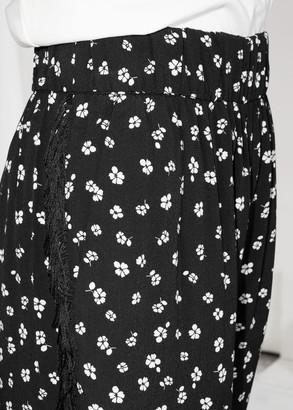 And other stories Floral Fringe Trousers