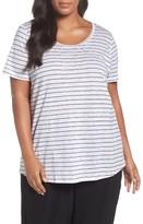 Eileen Fisher Plus Size Women's Organic Linen Stripe Tee