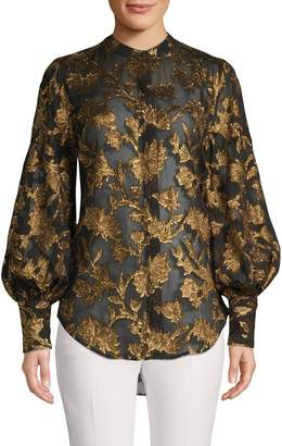 Equipment Printed Embroidered Blouse