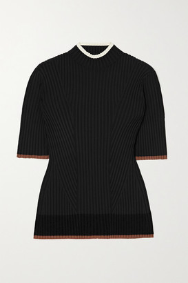 Theory Ribbed-knit Turtleneck Sweater - Black