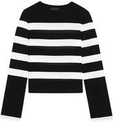 Calvin Klein Collection Striped Stretch-jersey Top - Black