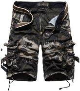 Feinste Men's Camo Cargo Shorts (36, Army Green)