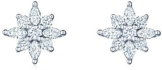 Kwiat 18kt white gold diamond Star petite stud earrings