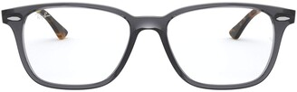 Ray-Ban Unisex's Rx7119 Rectangular Eyeglass Frames Prescription Eyewear