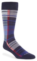Cole Haan Men's Madras Plaid Crew Socks