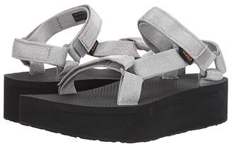 Teva Flatform Universal (Metallic Silver) Women's Sandals