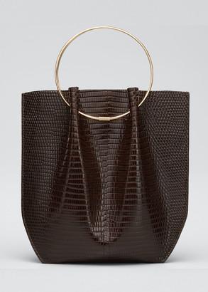 The Row Flat Micro Circle Bag in Lizard