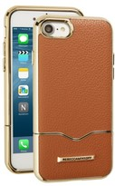 Rebecca Minkoff Leather Iphone 7 Slider Case - Brown