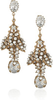 Bijoux Heart Parfait 24-karat gold-plated Swarovski crystal earrings