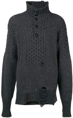 Maison Margiela cable-knit turtle-neck jumper
