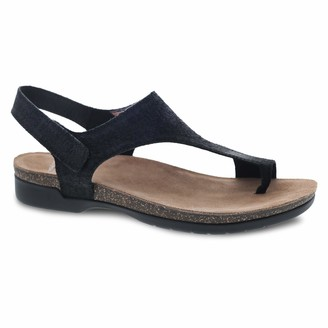 Dansko Women's Reece Black Full Grain Sandal 11.5-12 M US