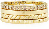 Penny Preville 18k Champagne Diamond Stacking Rings, Set of 4