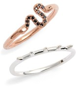 Topshop Women's Two-Pack Snake & Spike Rings