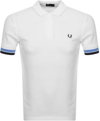 Fred Perry Bold Cuff Polo T Shirt White