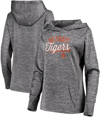 Majestic Women's Heathered Charcoal Detroit Tigers Simplicity Pullover Hoodie