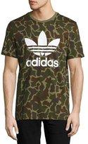 adidas Original Trefoil T-Shirt, Green Camouflage