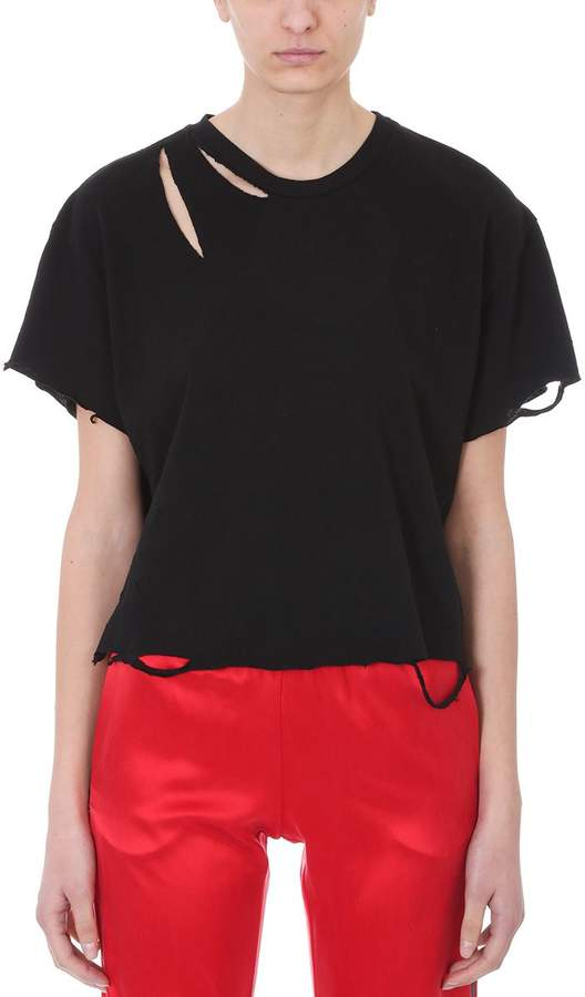 Amiri Oversize Slash Black Cotton
