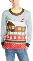 Faux Real Men's Santa On Break Ugly Christmas Sweater Printed T-Shirt