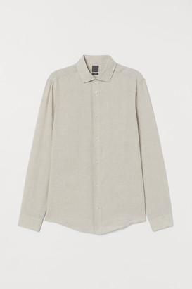 H&M Slim Fit Linen Shirt