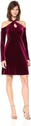 Only Hearts Women's Velvet Underground Cold Shoulder Dress