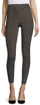 Alice + Olivia Maddox Suede High-Rise Pants