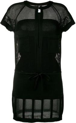 Chanel Pre Owned Mesh Panel Mini Dress