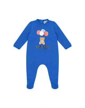 Moschino Balloons Teddy Bear Onesie Unisex Blue Size 1/3m It