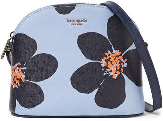 Kate Spade Sylvia Grand Flora Medium Floral-print Textured-leather Shoulder Bag
