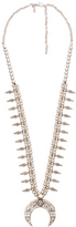 Natalie B Moon Rose Necklace in Metallic Silver.
