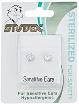 Studex Stainless Steel Cubic Zirconia 4mm Earrings