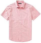 Vince Camuto Slim-Fit Diamond Dobby Short-Sleeve Woven Shirt