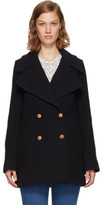 See by Chloe Navy Wool Double-breasted Coat