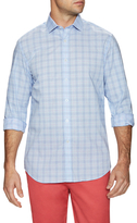 James Tattersall Checkered Spread Collar Dress Shirt