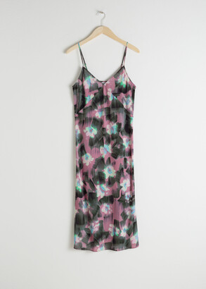 And other stories Watercolour Floral Slip Dress