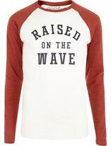 River Island MensRed Jack & Jones Vintage long sleeve T-shirt