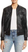 Cupcakes And Cashmere Dugan Faux Leather Bomber Jacket