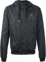 Dolce & Gabbana embroidered bee & crown hooded jacket