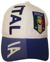 Marvel Italia Italy Blue White FIGC Logo FIFA Soccer World Cup Embossed Hat Cap .. High Quality .. New