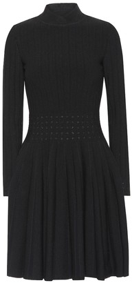 Alaia Wool-blend minidress