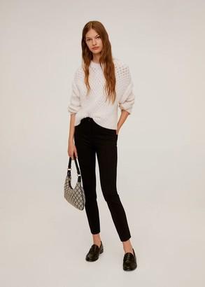 MANGO Elastic suit pants black - 2 - Women