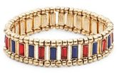 Robert Rose Striped Stretch Bracelet