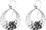 Barse Women's Hammered Silver Earrings ARTSE17SS